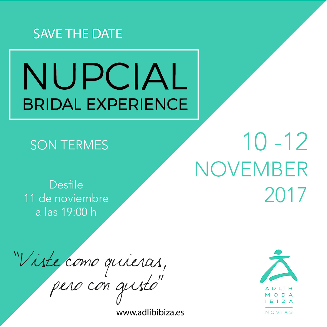 SAVE THE DATE - NUPCIAL BRIDAL EXPERINCE