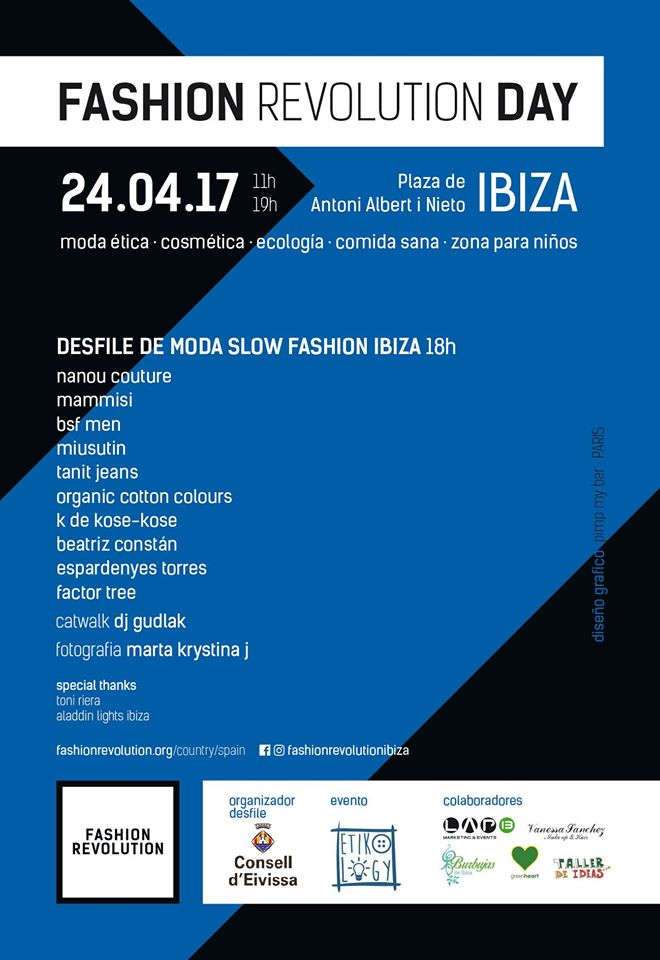 Cartel Fashion Revolution Ibiza Adlib